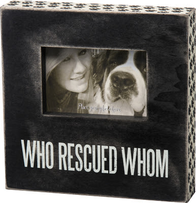Who Rescued Whom Box Frame By Primitives By Kathy Grassroots