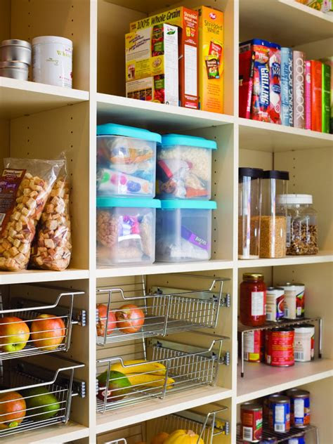 organize  kitchen pantry hgtv