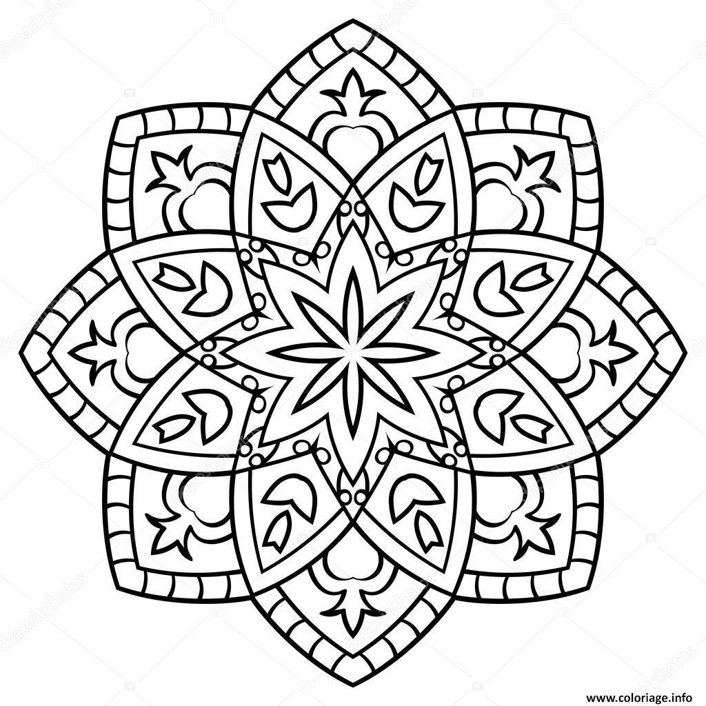 Coloriage De Mandala Facile
