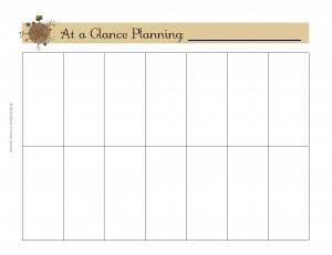 Make a Household Planner Notebook #3-3: Plan Your Week —