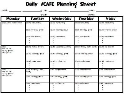Daily 5 Planner