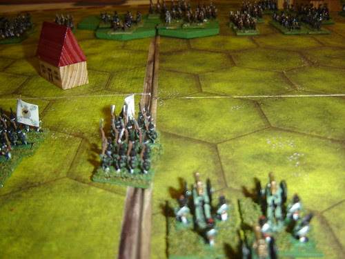 Russians begin march towards French artillery dominating battlefield