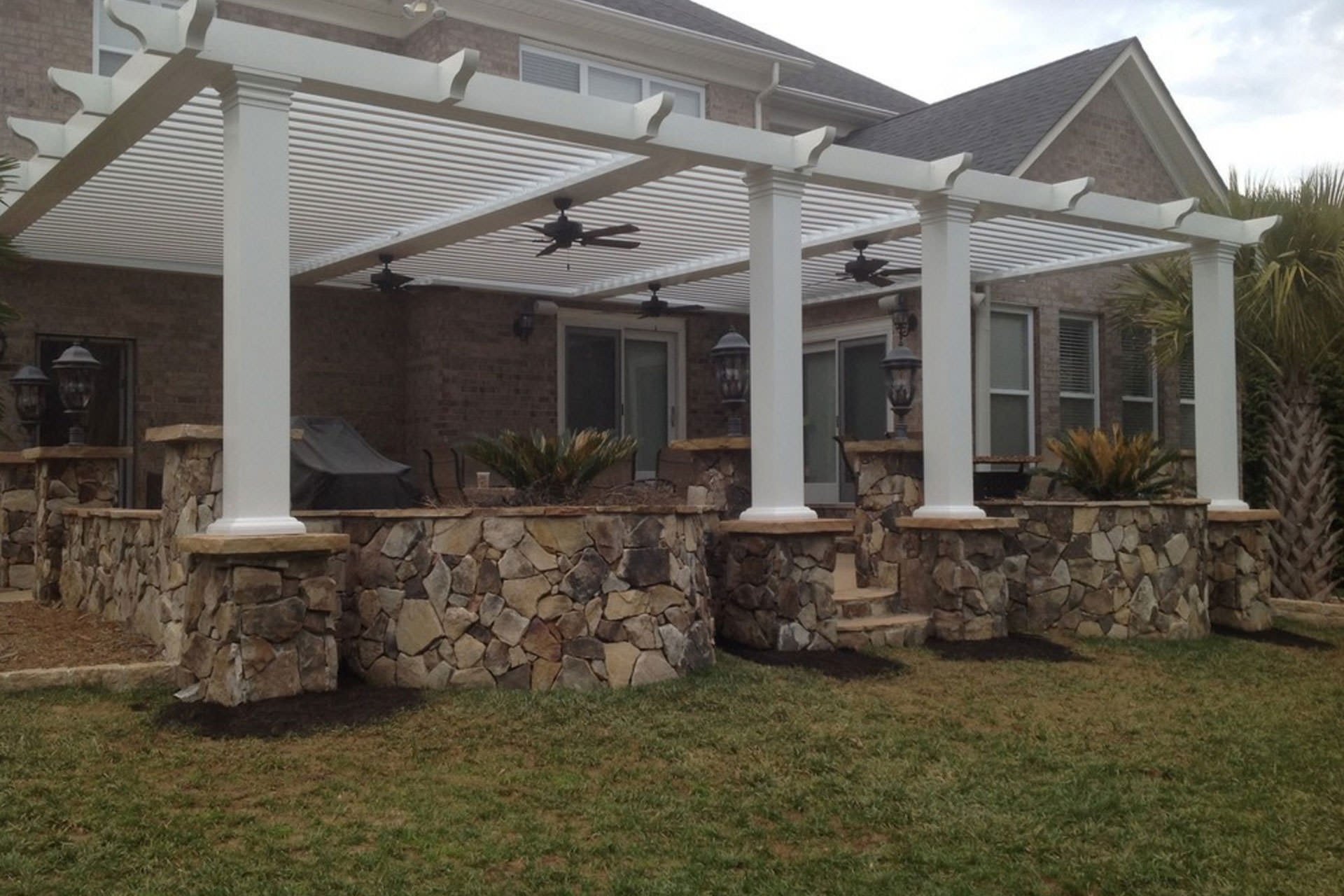 Retractable Roof Pergola Home Design Inside
