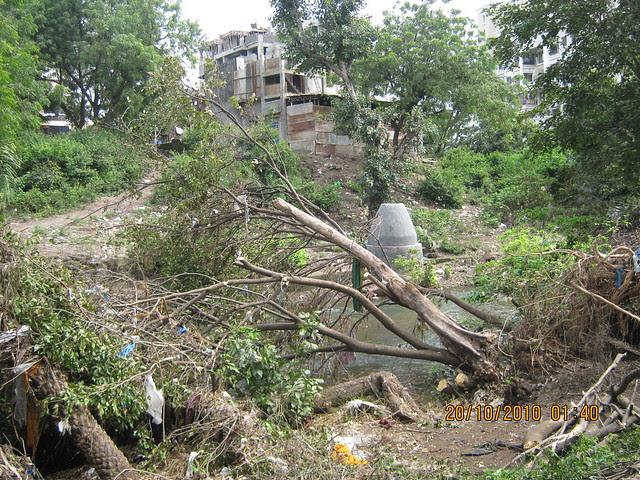 Ravaged banks of RamNadi at Bavdhan Budruk Pune 411021