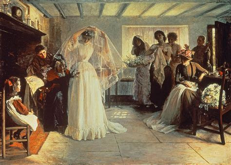 The Wedding Morning Painting by John Henry Frederick Bacon