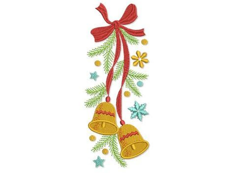 Christmas Bells Embroidery Design by EmbroideryLand