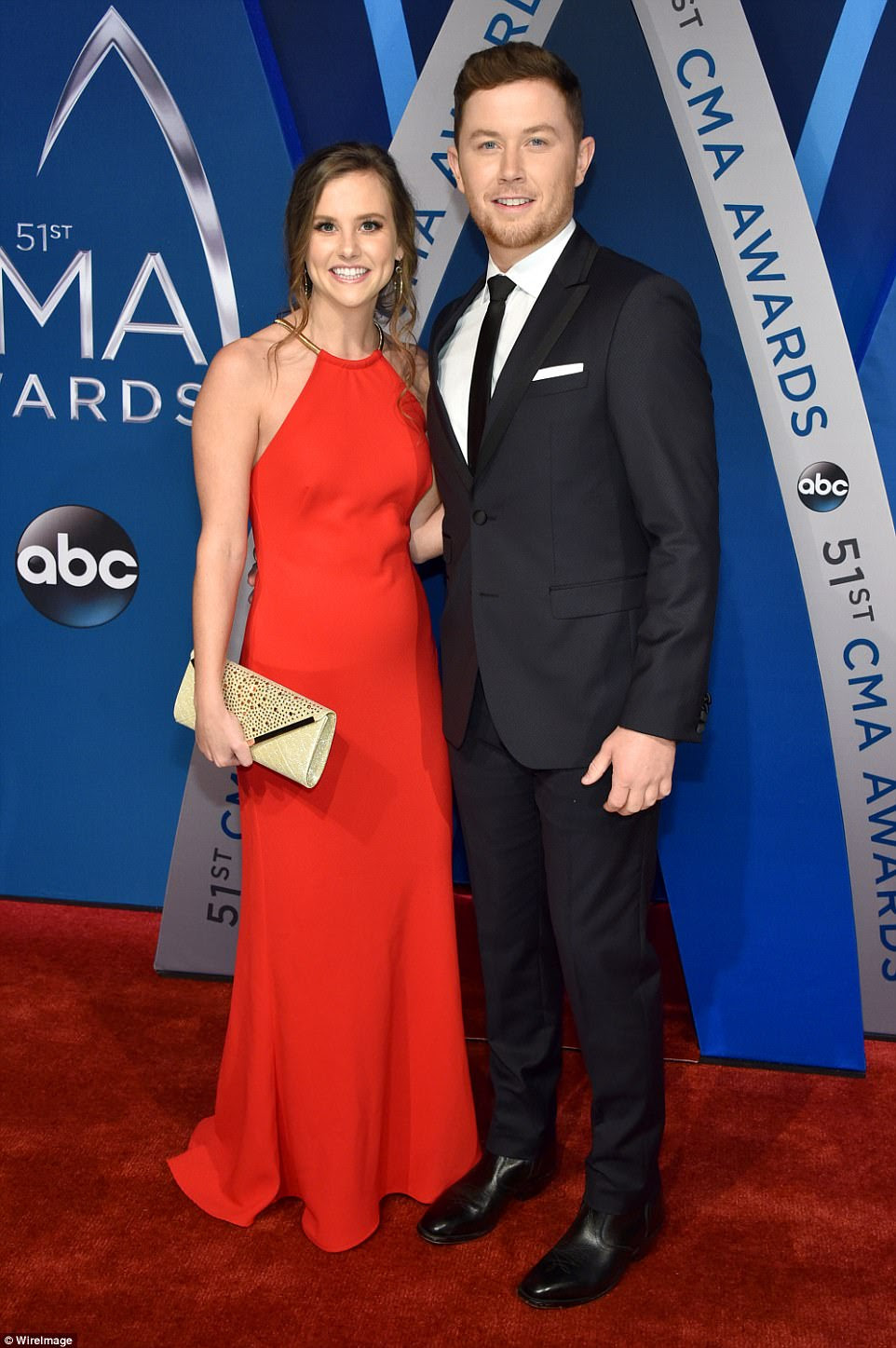Date night! Scotty McCreery and his fiancee Gabi Dugal were styled to perfection for the big night