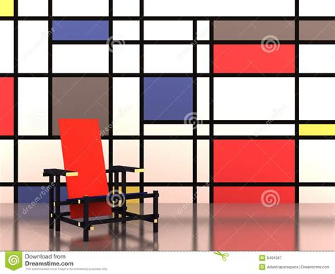 red and blue chair plans
