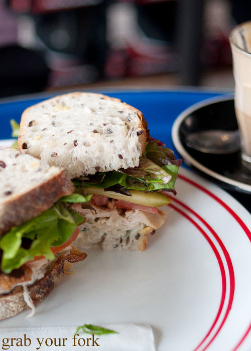 chicken sandwich at the town bike pitstop redfern darlington
