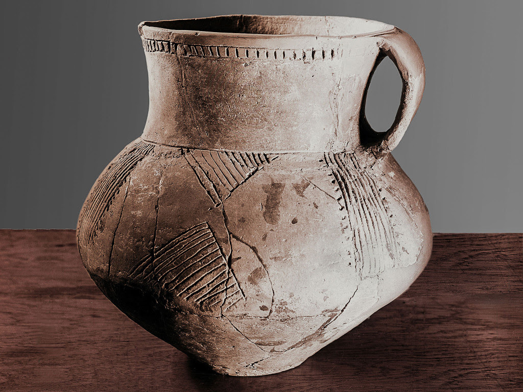 Pottery work from the Yamnaya culture, Russia.