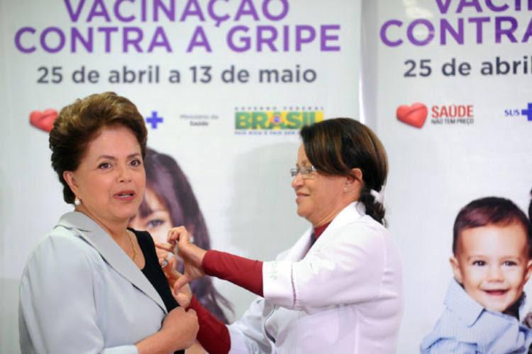A presidenta Dilma Rousseff incluiu a vacina na agenda de ontem