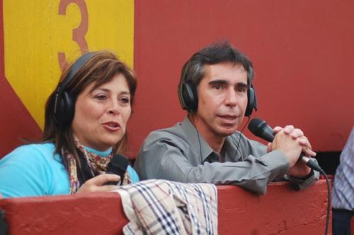 Magaly Zapata y Fernando Salgado en Acho