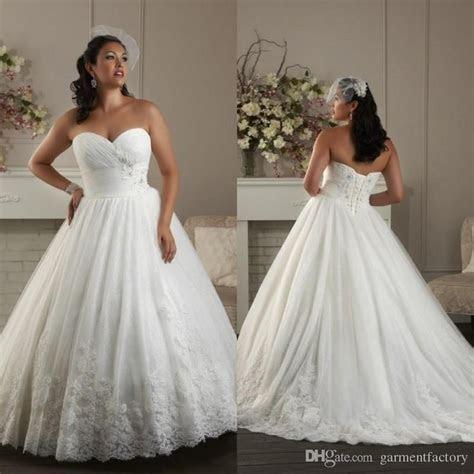 Corset Plus Size Wedding Dresses Sweetheart Neckline