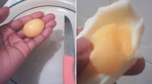 Woman Shares Photos of 'Fake' Eggs She Allegedly Bought at a Shop in Abuja (Photos)