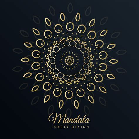 mandala golden design in floral pattern style   Download