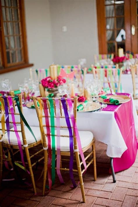 creative ways to tie chair sashes   Decorate Chair with