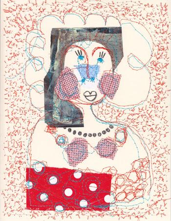 Jacinthe Chevalier personnage fille livre woman collage couture