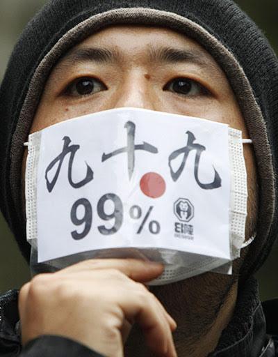 Ocupam Tóquio.  Foto: Reuters