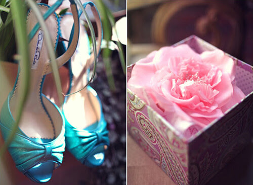 100layercake, wedding, shoes, turquoise, rose, pink, fabulous