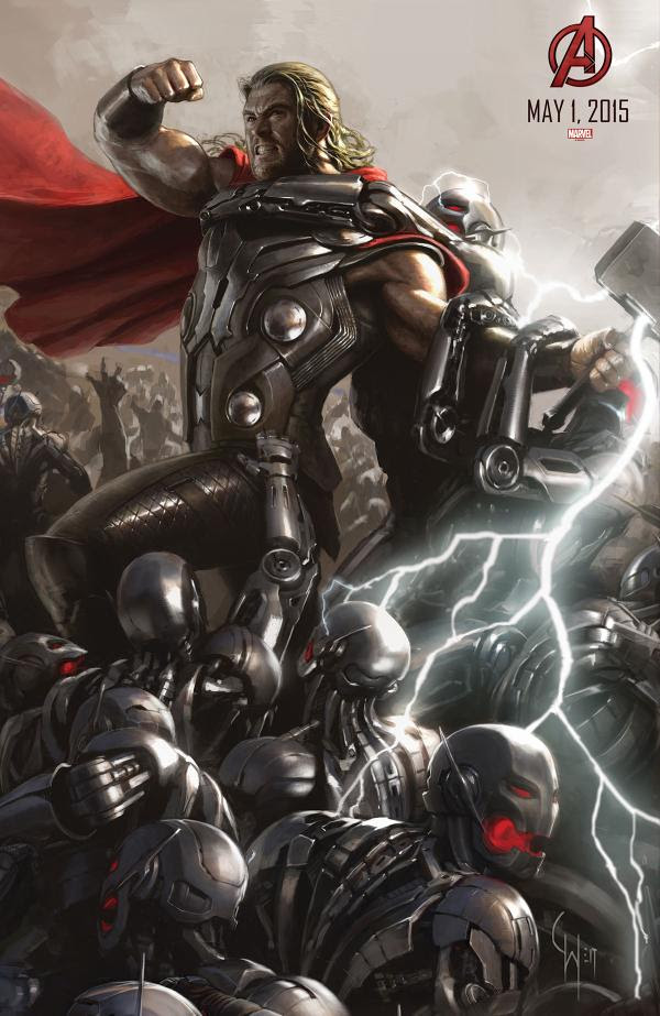 "Thor en el Poster de ""Los Vengadores : La Era de Ultron"""