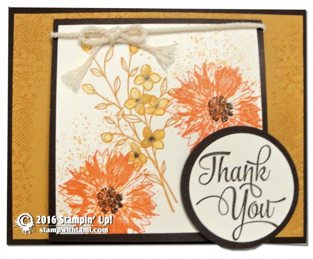 stampin up touches of texture stamp set card