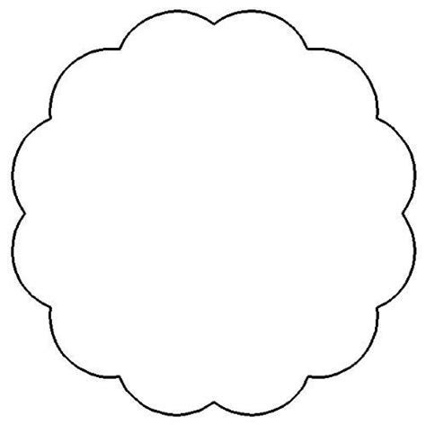 Free Printable Round Scalloped Circle For Scrapbooking on