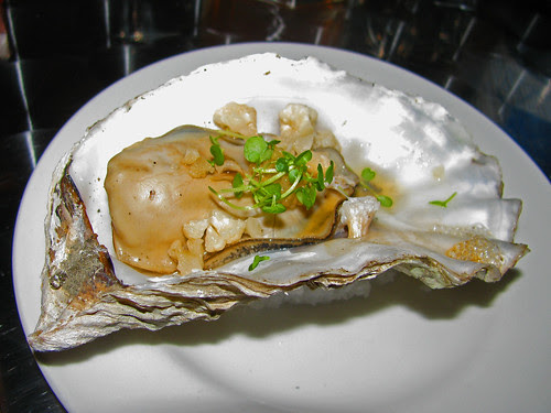 Giant Oyster with Habañero Pickled Cauliflower