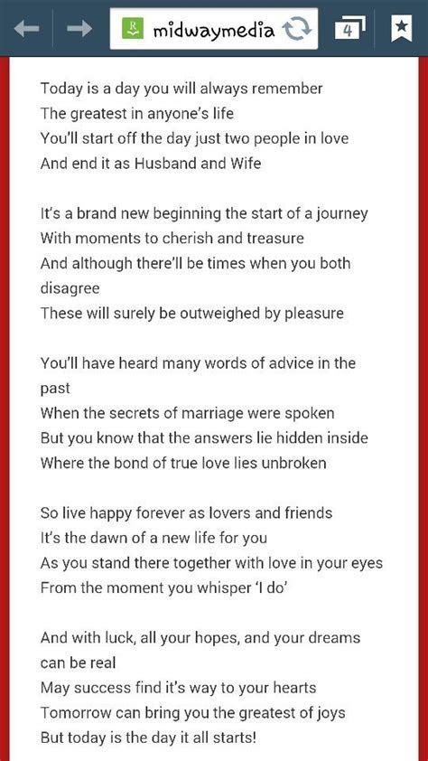 17 Best ideas about Love Poems Wedding on Pinterest