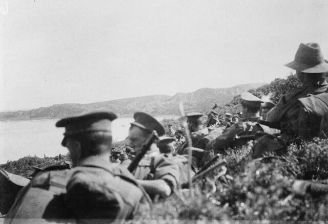 Awaiting orders, 25 April 1915