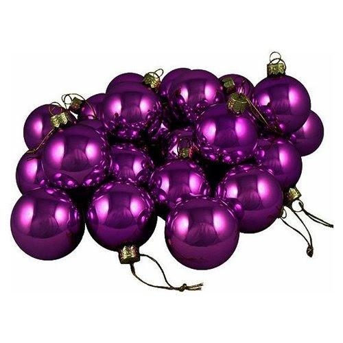 Violet Purple Glass Ball Christmas