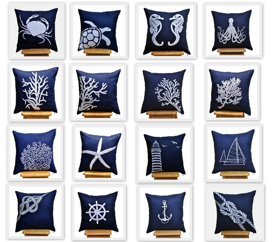 Popular items for pillow accent navy on Etsy
