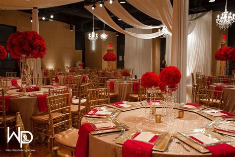 Red and Gold Wedding at WO Music School   Wedding ideas in