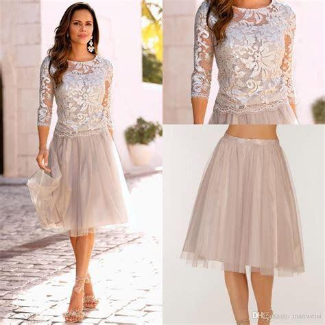 2018 Elegant Boho Mother Of The Bride Dresses Lace Tulle