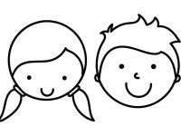 880 Boy And Girl Faces Coloring Pages , Free HD Download