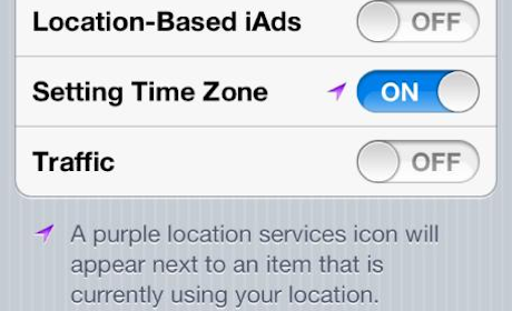 Location services on iPhone 4S