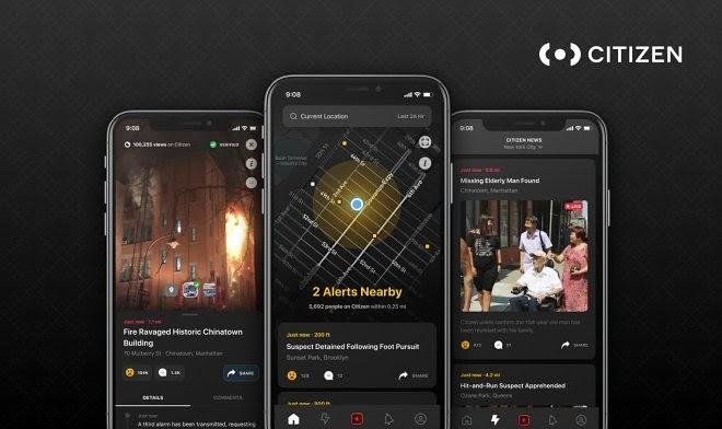 Гражданское приложение Citizen заплатит за прямые трансляции городских происшествий