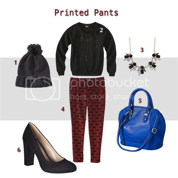 how to wear printed pants, how to dress up a sweatshirt, what to wear on Thanksgiving