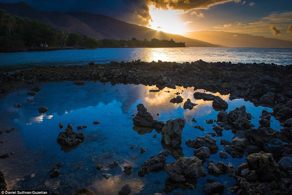 The sun rises over Oluwalu, Maui, in this serene image that will feature in his book, The Maui Coast - Legacy of the King's Highway