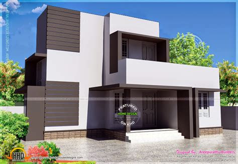 simple modern house square meter kerala home design floor
