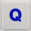 hangman tile blue letter Q