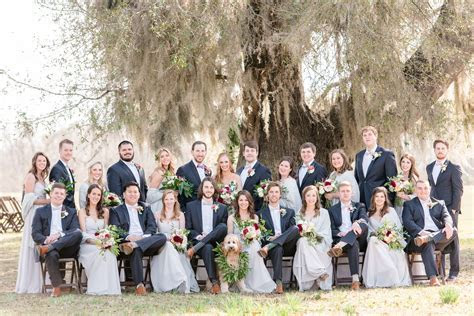 Blue and gray wedding party. gray bridesmaids dresses