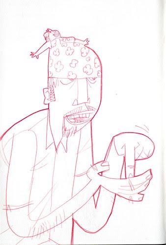 sketchdump: women as hats 2