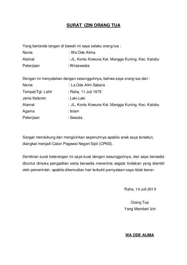 Image Result For Contoh Surat Kuasa Orang Tua Untuk Paspor