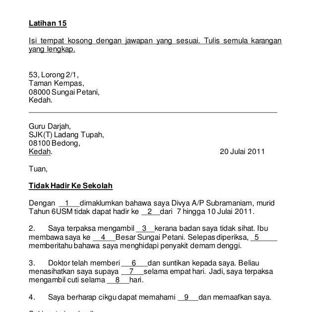 28 Set Latihan Karangan Isi Tempat Kosong Sesuai Untuk Murid Tahap 2 Tahun 4 5 6 In 2020 Malay Language Sheet Music Language