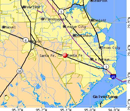 Santa Fe Tx Zip Code Map Campus Map