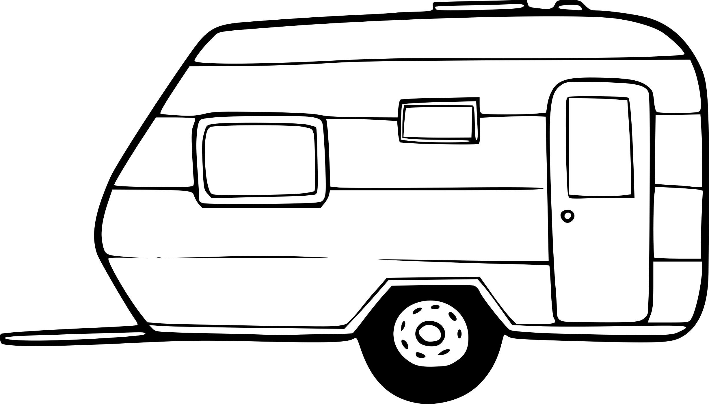 Coloriage caravane  imprimer · Coloriage tractopelle