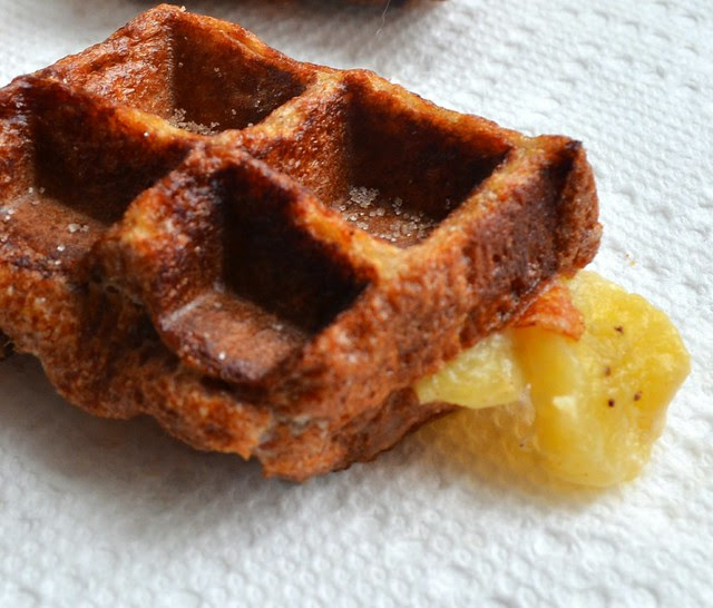 Waffled Cinnamon-Raisin French Toast Cream Cheese Banana Fandango