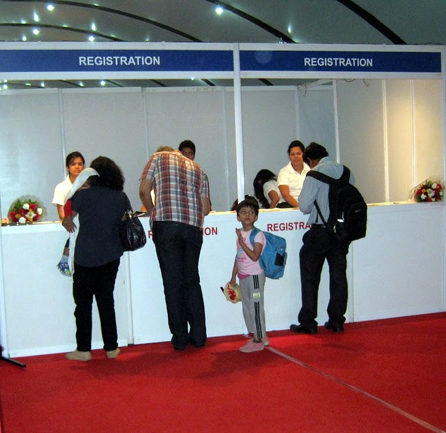 Property Buyers at Registration Counter - Exhibition of Properties in Hinjewadi, Wakad, Baner, Balewadi & Bavdhan! - PROFEST WEST 2012 by CREDAI Pune Metro on 26 - 27 -28 October 2012 at VITS Hotel, Balewadi, Pune