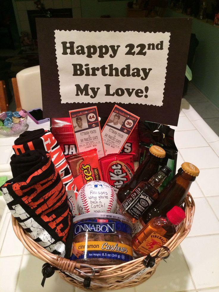 SF Giants Baseball gift basket for my boyfriend's birthday. Complete ...
