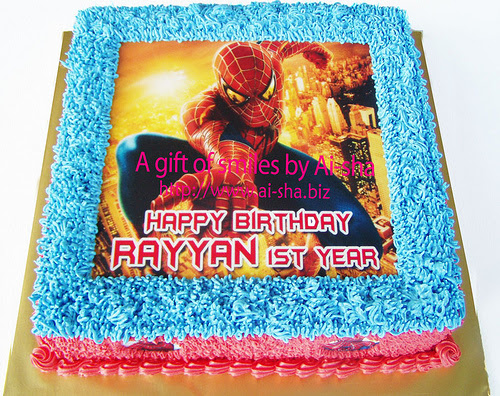 Birthday-Cake-Edible-Image-Spiderman